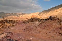 The Negev desert (Israel). Clouds above a desert scene, Negev, Israel Stock Images