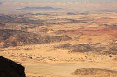Negev Desert, Israel. Scenic view of Ramon Crater and its geological formations in Negev desert, Israel Stock Images