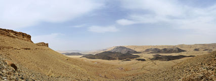 Negev desert in Israel. Royalty Free Stock Photos