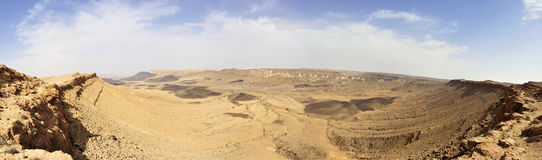 Negev desert in Israel. Royalty Free Stock Image