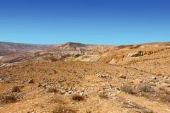 Negev Desert in Israel Stock Photo