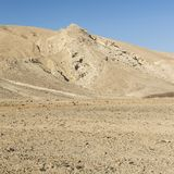 Negev Desert in Israel. Rocky hills of the Negev Desert in Israel. Breathtaking landscape of the rock formations in the Southern Israel. Dusty mountains Stock Images