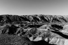 Negev Desert in Israel. Rocky hills of the Negev Desert in Israel. Breathtaking landscape of the rock formations in the Southern Israel. Dusty mountains Stock Photography