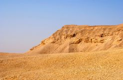 Negev desert landscape near the Dead Sea. Royalty Free Stock Images