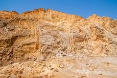 Negev desert landscape near the Dead Sea. Royalty Free Stock Photography