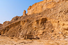 Negev desert landscape near the Dead Sea. Royalty Free Stock Photos