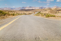 The road in the Negev desert Royalty Free Stock Image