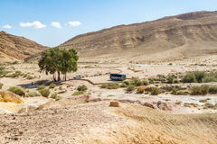 The Negev Desert. Large Crater or Makhtesh Gadol, Israel Royalty Free Stock Image