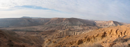 Negev Desert panoramic view Royalty Free Stock Photo