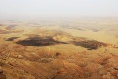 Negev desert and Ramon crater. royalty free stock photos