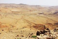 Negev desert and Ramon crater. Stock Photos