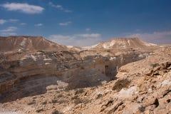 negev för ökenisrael liggande Arkivfoto