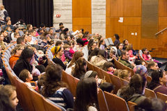 Negev, Israel, Beer-Sheva -The audience in the auditorium of the concert hall, 2015 Royalty Free Stock Image
