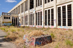 Neglected and Abandoned: Old Power House Stock Image