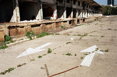 Abandoned Market Road. The neglected and abandoned old wholesale market in Tel-Aviv, Israel Stock Photography