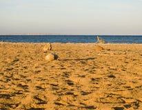Neglected beach. On Red sea. Hurgada. Egypt Stock Photography