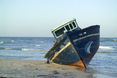 Neglected fishing boat Stock Image
