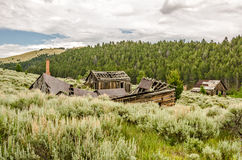 Neglected Homes and Schoolhouse Stock Photo