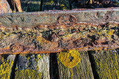 Neglected jetty from close Stock Photo