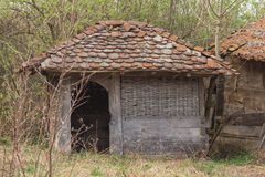 Neglected outbuilding. Old building photographed in an abandoned and neglected household Royalty Free Stock Image