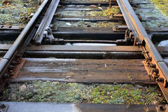 Neglected railway line, railway tracks Stock Photo