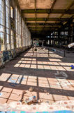 Neglected Shadows: Old Power House Stock Image