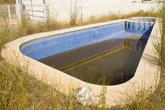 Neglected Swimming Pool Stock Photography