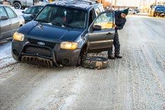 Negligência da reparação de automóveis Imagens de Stock