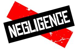 Negligence attention sign. Caution red and black series Royalty Free Stock Photo