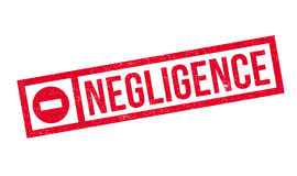 Negligence rubber stamp Royalty Free Stock Photos
