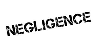 Negligence rubber stamp Royalty Free Stock Image