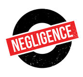 Negligence rubber stamp Stock Image