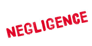 Negligence rubber stamp Royalty Free Stock Images