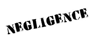 Negligence rubber stamp Royalty Free Stock Photography