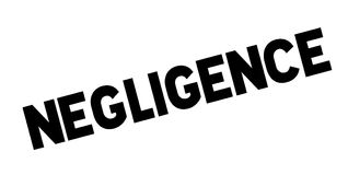 Negligence rubber stamp Stock Photography