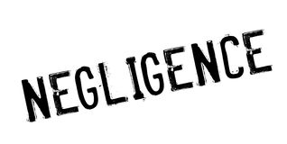 Negligence rubber stamp Stock Images