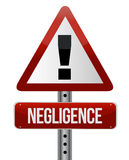 Negligence sign. Illustration design over a white background royalty free illustration