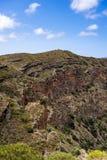 Negligenciando a borda do sul da cratera de Bandama, Gran Canaria foto de stock royalty free