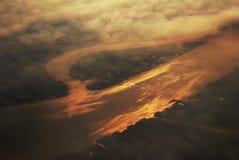 Negligenciando o rio de Yangtze em China do co fotografia de stock royalty free