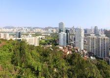 Negligencie a cidade de xiamen na montanha huweishan, adôbe rgb fotos de stock royalty free