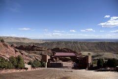 Negligencie o anfiteatro Denver das rochas do vermelho fotografia de stock royalty free
