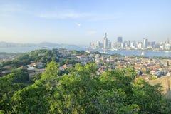 Negligencie o cenário da ilha de gulangyu, adôbe rgb fotos de stock