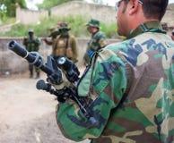 Negociações com os homens armados Foto de Stock