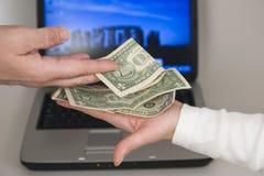Negociações do dinheiro foto de stock royalty free
