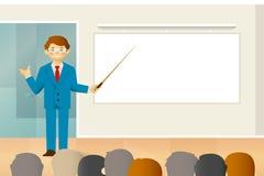 Negociações do negócio ou conceito do vetor da conversação no estilo liso ilustração stock