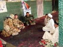 Negociación de la paz en Afganistán Imágenes de archivo libres de regalías