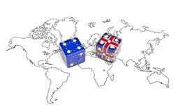 Negociación entre Gran Bretaña y la unión europea y x28; concept& político x29; Imagen de archivo libre de regalías