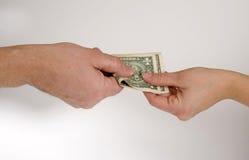 Negociaciones del dinero Fotografía de archivo libre de regalías