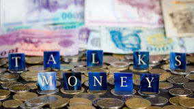 Negociaciones del dinero Imagen de archivo libre de regalías