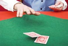 Negociando cartões Imagem de Stock